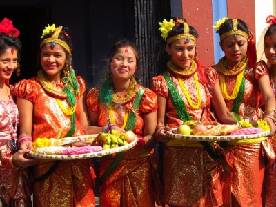 Dancers during the Tihar Festival